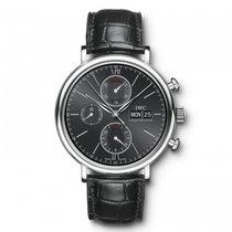 IWC Portofino Chronograph  Black Dial Automatic IW391008 Mens...