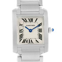 Cartier Tank Francaise Silver Dial Steel Ladies Watch W51008q3