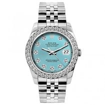 Rolex Midsize Datejust Unisex 31mm Iced Blue Dial Stainless...