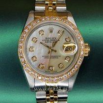 롤렉스 (Rolex) DateJust 69173 Lady 18k Gold Steel MOP Diamonds