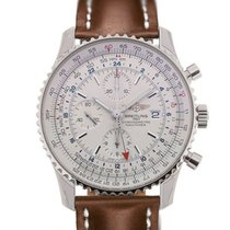Breitling Navitimer World 46 Chronograph Silver Dial Light...
