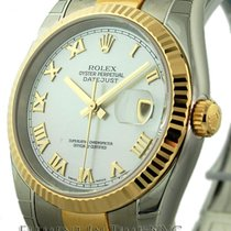 Rolex Datejust Steel / 18k Yellow Gold Silver Dial 36mm