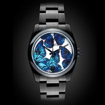 TBlack Rolex Oyster Perpetual Neon Blue