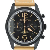 Bell & Ross Vintage Heritage Chronograph Black Stainless...