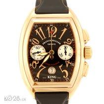 Franck Muller Conquistador King 8002 CC Chronograph Gold Box +...
