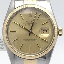 Rolex Datejust 36mm 16013 Stainless Steel And 18k Yellow Gold...