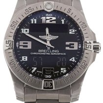 Breitling Aerospace Evo LCD Digital Dial Titanium Men Watch...