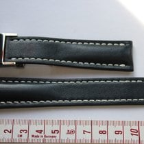 브라이틀링 (Breitling) dark blue leather straps and clasp  22mm