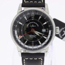 Zeno-Watch Basel Magellano GMT (Dual Time) black NEW