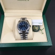 Rolex Datejust 36mm, Zifferblatt blue index, mit Jubile -Band