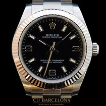 Rolex Oyster Perpetual  177234 White Gold Bezel Box&Papers
