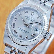 롤렉스 (Rolex) Rolex 18K Gold S/S Sapphire Roman Dial Women's...