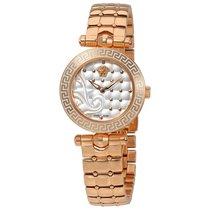 Versace Micro Vanitas White Dial Ladies Rose Gold Tone Watch