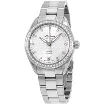 Alpina Comtesse Silver Dial Stainless Steel Ladies Watch...