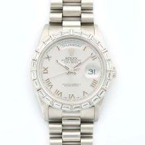 Rolex Day-Date Platinum Baguette Diamond Ref. 18366