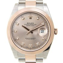 Rolex Datejust 18k Rose Gold And Steel Pink Automatic 126301GPK_O