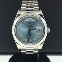 Rolex Day-Date II President 41mm Ref 218206 Platinum Factory...