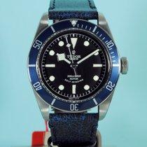 Tudor Heritage Black Bay blau Lederband & Textilband -NEU-