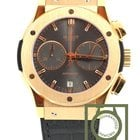 Hublot Classic Fusion Vendôme Chrono pink gold grey crocodile NEW