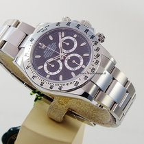 Rolex Daytona Stahl ZB schwarz top condition box and papers