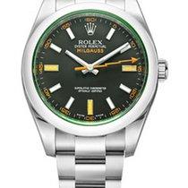 Rolex Milgauss Black Dial Domed Bezel Green 116400GV