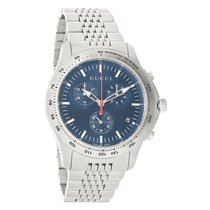 Gucci 126 G-Timeless Mens Blue Dial Chronograph Quartz Watch...