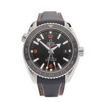 Omega Seamaster Planet Ocean GMT Stainless Steel Gents...
