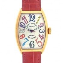 Franck Muller Color Dreams 5850SC 18k Rose Gold Red Leather...