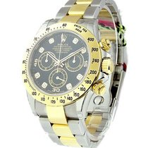 Rolex Unworn 116523 Daytona 2-Tone with Black Diamond Dial...