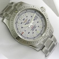 Breitling a1738811 Colt Automatic 44mm Stainless Steel Silver...