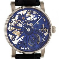 Schaumburg Watch Unikatorium Blue Ice Handaufzug Skelett 42mm