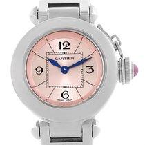 Cartier Miss Pasha Small Steel Pink Dial Quartz Watch W3140008