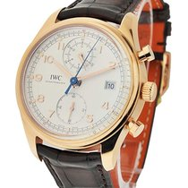 IWC IW390402 Portuguese Chronograph Classic in Rose Gold - On...