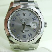 Rolex Datejust Mens 116300 41 Mm Watch Stainless Steel Silver...