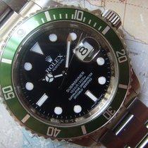 Rolex 2008 Anniversary Submariner Ref 16610 Green Bezel Box...