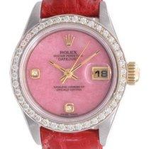 Rolex Ladies Rolex Datejust Watch 69173 Genuine Rolex Coral Dial