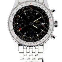 Breitling Navitimer World GMT 46mm black dial steel