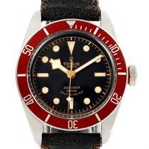 Tudor Heritage Black Bay Steel Leather Strap Watch 79220r Box...