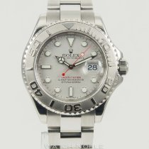 Rolex Yacht-Master Stainless Steel Platinum Dial Mens Watch