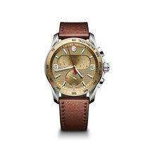 Victorinox Swiss Army Chrono Classic, champagne dial, leather,...