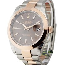 Rolex Unworn 126301CHOIO Datejust 41mm in Steel and Rose Gold...