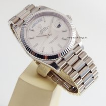 Rolex Day-Date 40mm silver dial LC 100