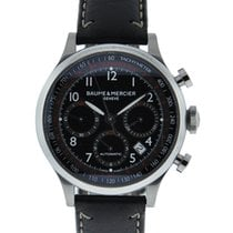 Baume & Mercier Capeland Chronograph Stainless Steel Black...
