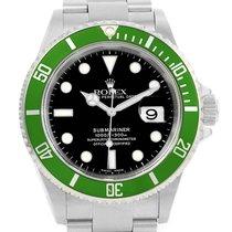 Rolex Submariner Green Bezel 50th Anniversary Mens Watch 16610lv
