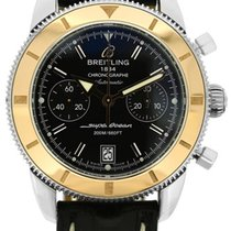Breitling stainless steel and 18k yellow gold SuperOcean...