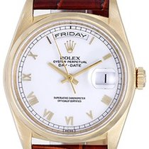 Rolex Men's Rolex President 18k Gold Day-Date Watch White...