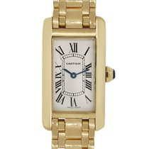 Cartier Tank Americaine W26015K2 18k  Gold Ladies Watch