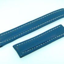 Breitling Band 18mm Kalb Blau Blue Azul Calf Strap Für...