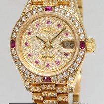 Rolex Datejust President 18k Gold ALL Diamond & Ruby...