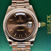 Rolex Day-Date 40 18k Everose Gold Mens Watch Box/Papers NEW...